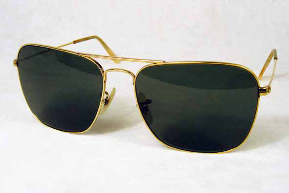 vintage sunglasses : 1950's/60s Ray-Ban Caravan by BAUSCH & LOMB