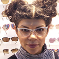 vintage sunglasses : old spitalfields market : 1960s white gold-fill and decorative aluminium frame by ART-CRAFT USA