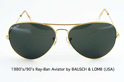 1980s/90s Ray-Ban Aviator by 		BAUSCH & LOMB USA